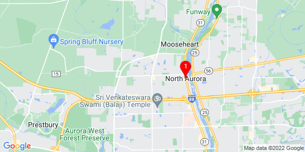 Google Map of North Aurora, IL
