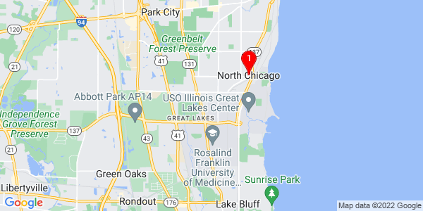 Google Map of North Chicago, IL