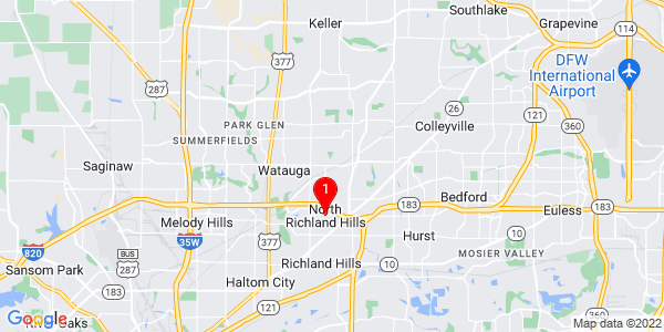 Google Map of North Richland Hills, TX