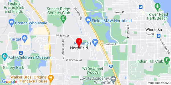 Google Map of Northfield, IL