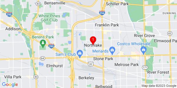 Google Map of Northlake, IL