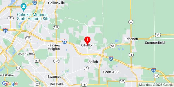 Google Map of O'Fallon, IL