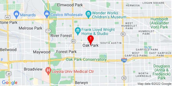 Google Map of Oak Park, IL