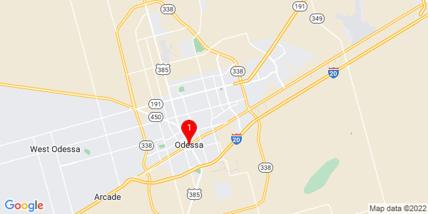 Google Map of Odessa, TX