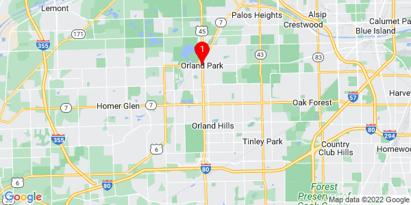 Google Map of Orland Park, IL