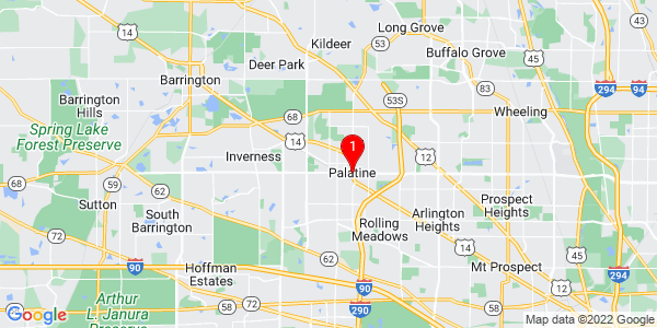Google Map of Palatine, IL