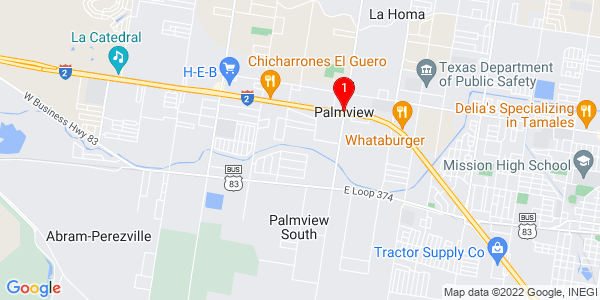 Google Map of Palmview, TX
