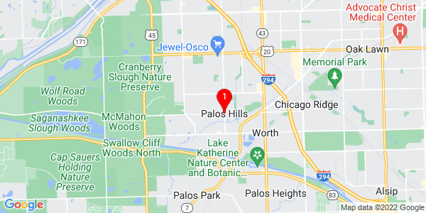 Google Map of Palos Hills, IL