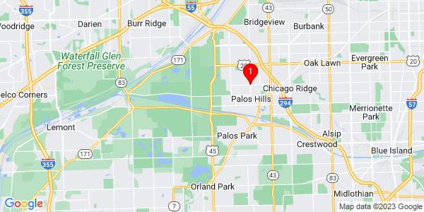 Google Map of Palos, IL