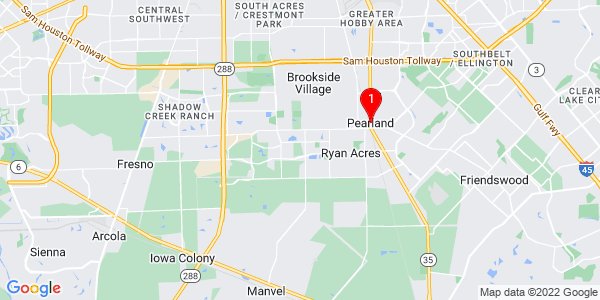 Google Map of Pearland, TX