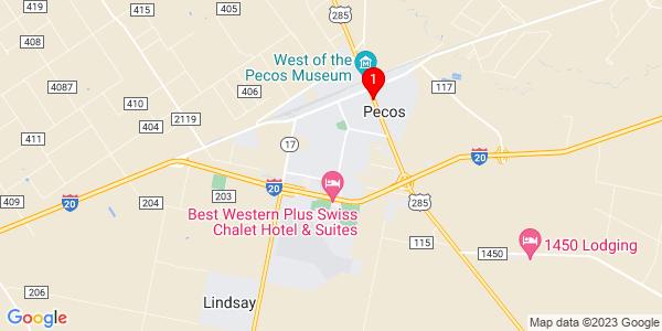 Google Map of Pecos, TX