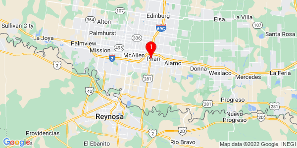 Google Map of Pharr, TX