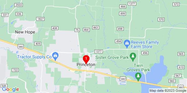 Google Map of Princeton, TX
