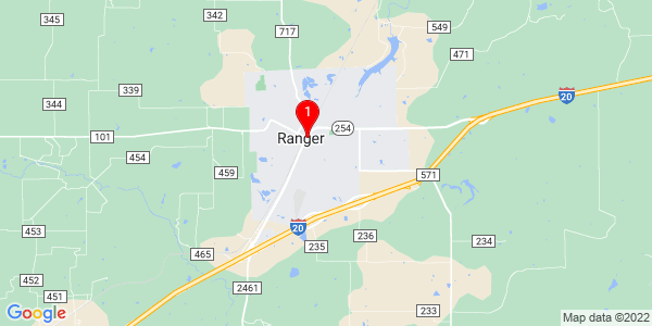 Google Map of Ranger, TX