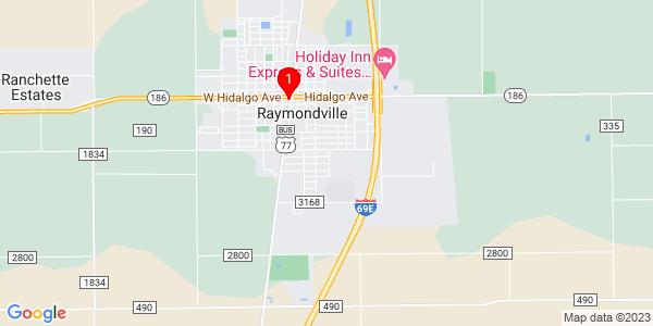 Google Map of Raymondville, TX