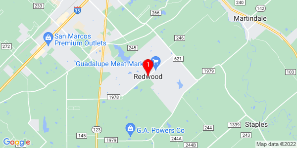 Google Map of Redwood, TX