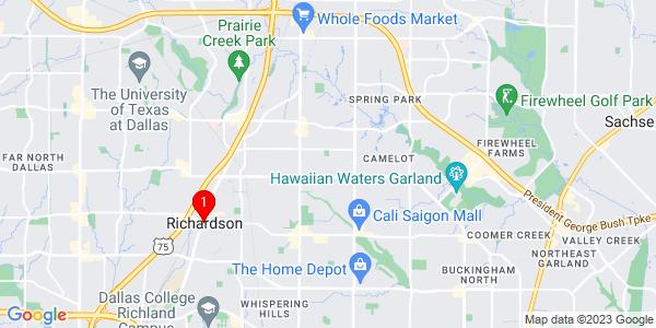 Google Map of Richardson, TX