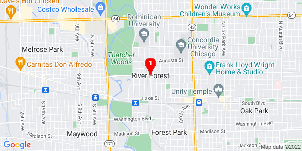 Google Map of River Forest, IL
