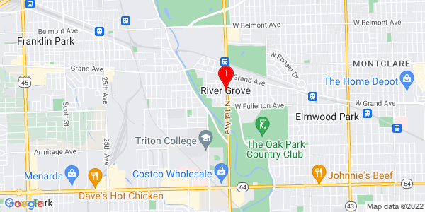 Google Map of River Grove, IL