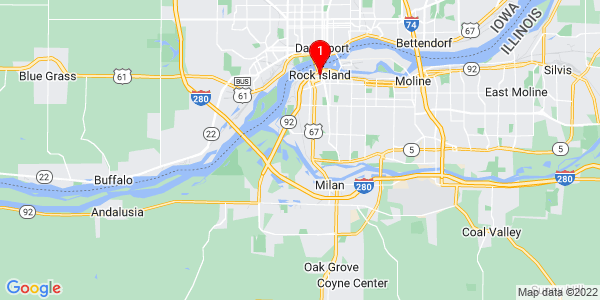 Google Map of Rock Island, IL
