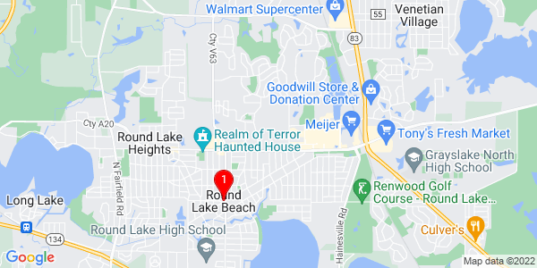 Google Map of Round Lake Beach, IL