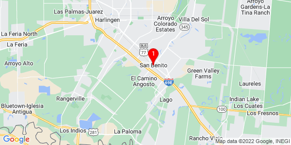 Google Map of San Benito, TX