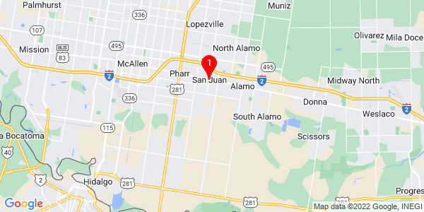 Google Map of San Juan, TX