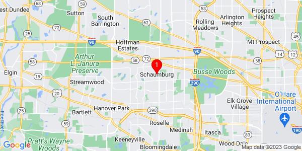 Google Map of Schaumburg, IL