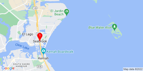Google Map of Seabrook, TX