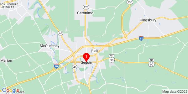 Google Map of Seguin, TX