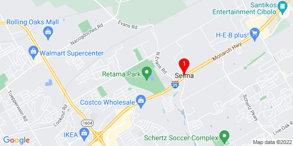 Google Map of Selma, TX