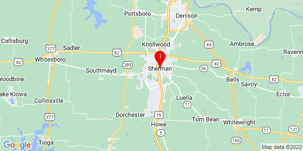 Google Map of Sherman, TX