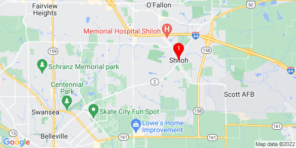 Google Map of Shiloh, IL
