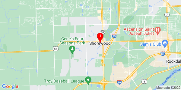 Google Map of Shorewood, IL