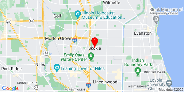 Google Map of Skokie, IL