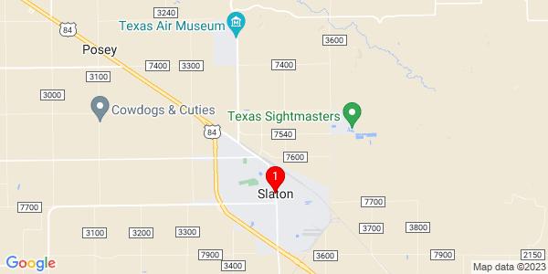 Google Map of Slaton, TX