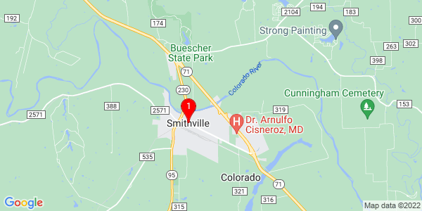 Google Map of Smithville, TX