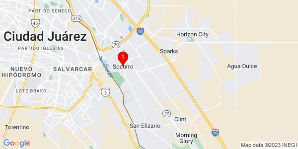 Google Map of Socorro, TX