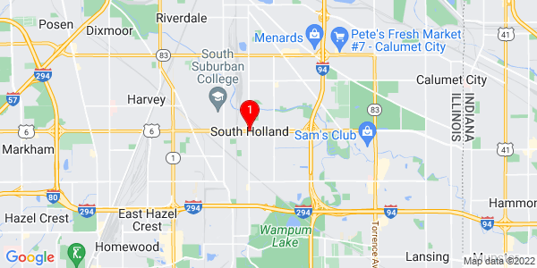 Google Map of South Holland, IL