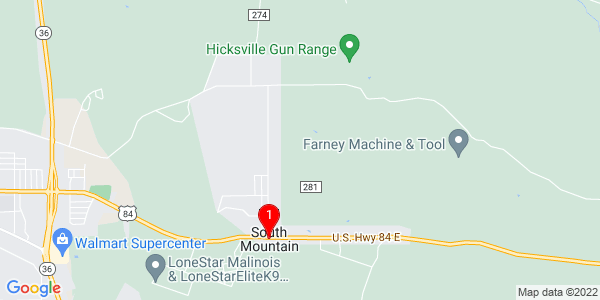 Google Map of South Mountain, TX