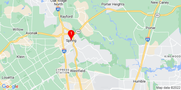 Google Map of Spring, TX