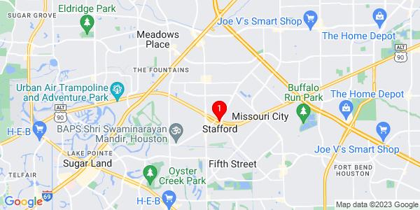 Google Map of Stafford, TX