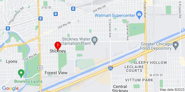 Google Map of Stickney, IL