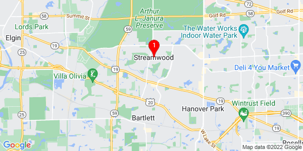 Google Map of Streamwood, IL