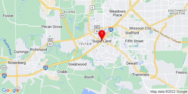Google Map of Sugar Land, TX