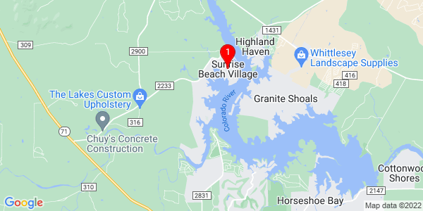 Google Map of Sunrise Beach Village, TX