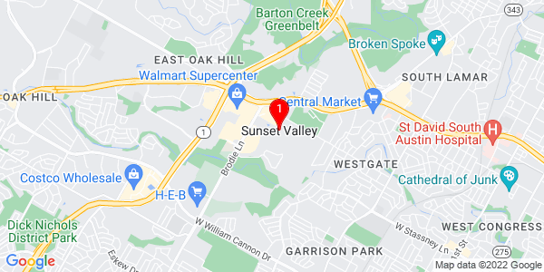 Google Map of Sunset Valley, TX