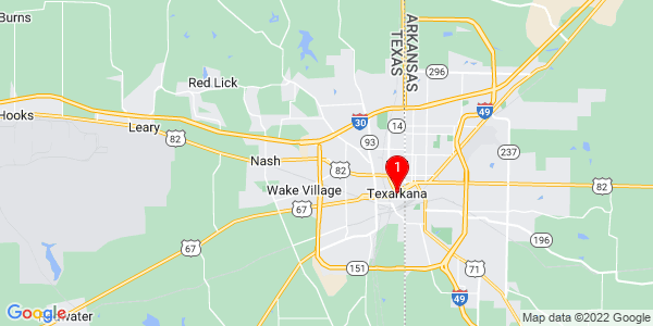 Google Map of Texarkana, TX