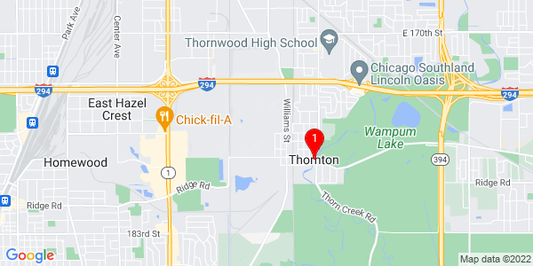 Google Map of Thornton, IL