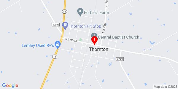 Google Map of Thornton, TX